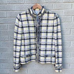 St. John Collection Boucle Tweed Zip Jacket